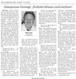 Osteoporose Vorsorge